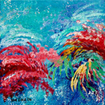 Under the Sea - original abstract painting by Reneé King