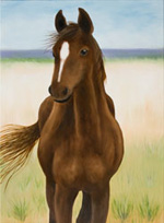 Young Filly - original animal painting by Reneé King