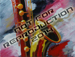 Saxofusion - original musical painting by Reneé King