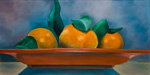 Still Life with Oranges - original acrylic painting by Reneé King