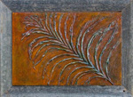 Fossil Frond - original mixed media painting by Reneé King